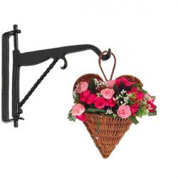 Dolls House Miniature Hanging Basket Hook Holder Garden Accessory