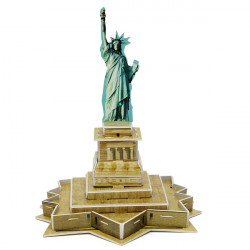 Educational 3D Model Puzzle Jigsaw Mini Statue of Liberty DIY Toy
