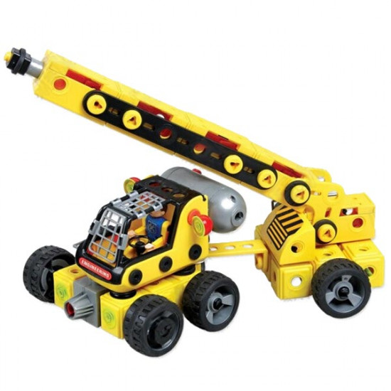 Electric Navvy Plastic Blocks DIY Assembly RC Car Educational Toys 2021