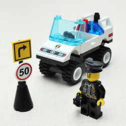 Enlighten Barricade Roadblock Command Car Blocks Educational Toy
