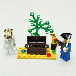 Enlighten Brick Human Skeleton Adventure Blocks Pirates Series Toy