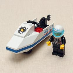Enlighten Police Motorboat Buliding Blocks Assembly Brick Educational Toy