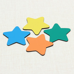 10x Fridge Magnet Five-pointed Star Magnet Science & Discovery Toys