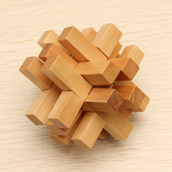 Funny Chinese Traditional Wooden Educational Toys Puzzle Lock Educational Toys