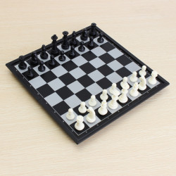 International Chess & Checkers Folding Magnetic Board Educational Toys