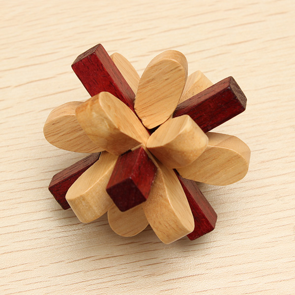 Lilac YX829 Flower Wooden Brain Teaser Puzzle Game Toy Educational Toys
