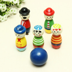 Little Pirate Bowling Ball Wooden Toys Educational Toys