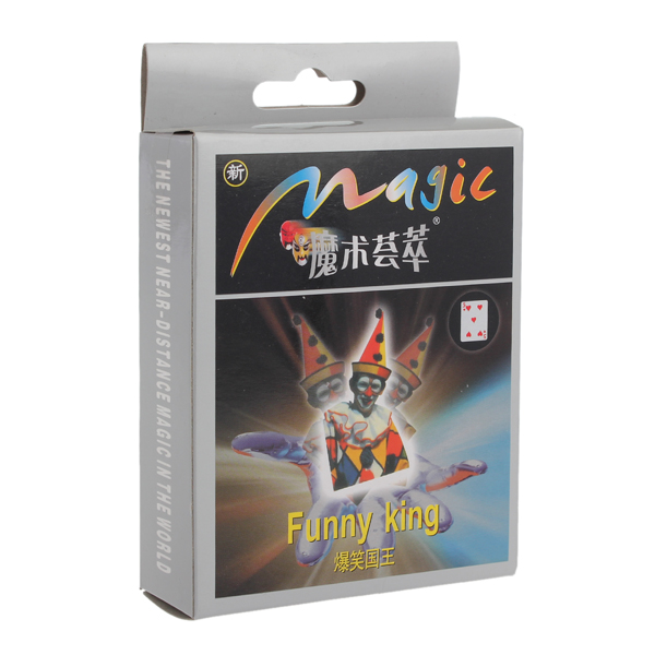 Magic Toy Tricks Kits Funny King Card Game & Scenery Toy