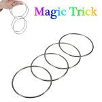 Magic Trick 4 Chinese Linking Rings Set For Kids Stage Magic Trick Game & Scenery Toy