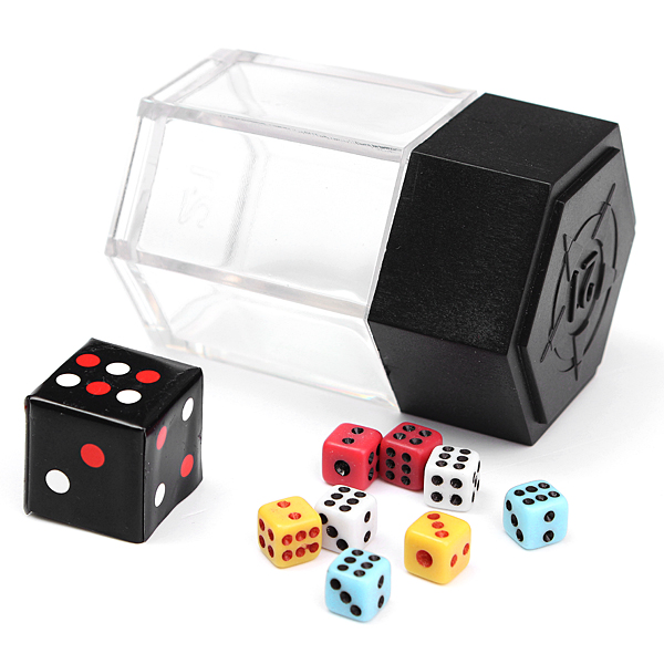 Magic Trick Prop Explosion Dice Color Change Size With Instruction Game & Scenery Toy