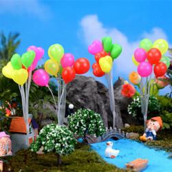 Micro Landscape Ornaments Miniature DIY Heart/Round Balloons