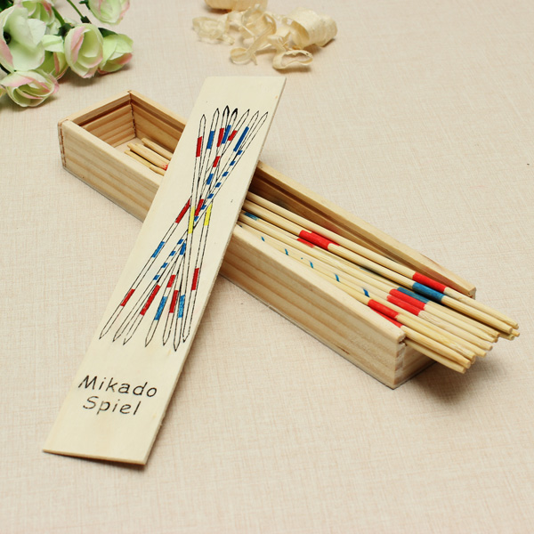 Mikado Spiel Game Sticks Wooden Toys Adult Children Intelligence Toy Educational Toys