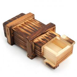 Mini Compartment Wooden Secret Toy Magic Puzzle Box