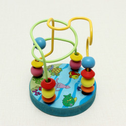 Mini Wire Maze Educational Wear Beads Mushrooms Nails Education Toys