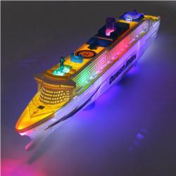 Ocean Liner Ship Boat Electric Toy Flash LED Lights Sounds Kid Gift