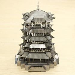PIECECOOL Yellow Crane Tower DIY 3D Laser Cut Models Puzzle
