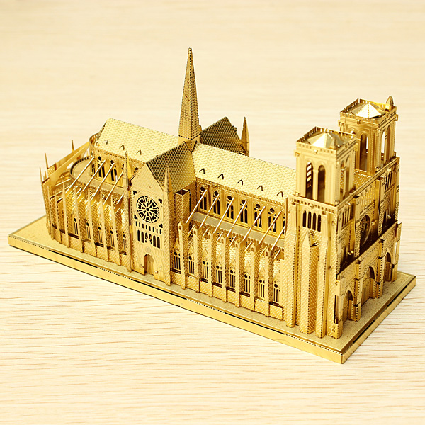 Piececool Notre Dame Cathedral Paris DIY 3D Laser Cut Models Puzzle Toys Model