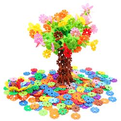 Plastic Buckles Blocks Geometrical Snowflakes Educational Toys