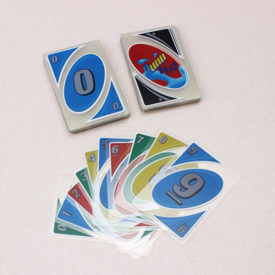 Plastic Transparent Waterproof UNO Card Game Family Fun Poker Card 2021