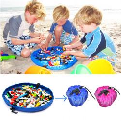 Portable Storage Bag Toys Organizer Rug Box Kids Play Mat 45cm