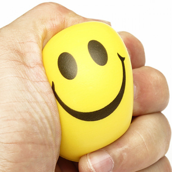 Smiley Face Exercise Stress Relievers Squeeze Ball