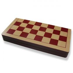 Wood International Chess Set With Folding Board