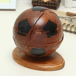 Wooden Craft Ornaments Sporting Football Lock Luban Lock Toys