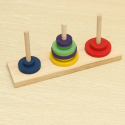 Wooden Tower of Hanoi Educational Toys Children Brain Teaser Toy