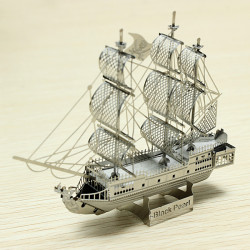 ZOYO Black Pearl Pirate Ship DIY 3D Laser Cut Models Puzzle