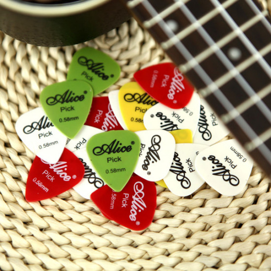 100pcs Electric Guitar Picks Plectrums(Assorted thickness&colors) 2021