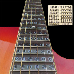 1pc Guitar Fretboard Note Sticker Musical Scale Label Beginner Decal