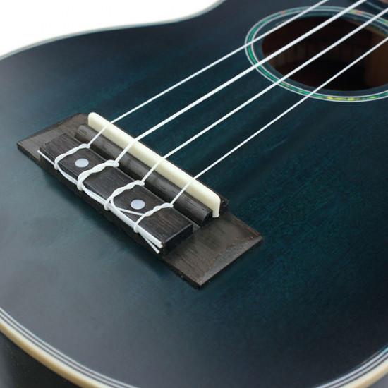 21 Inch Spruce Ukulele Gradient Blue Musical Instrument 2021