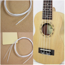4pcs 21 Inch Hawaii Ukulele White Nylon String