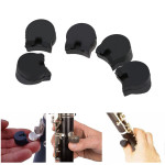 5pcs Practical Rubber clarinet Finger Cushions Black Musical Instruments