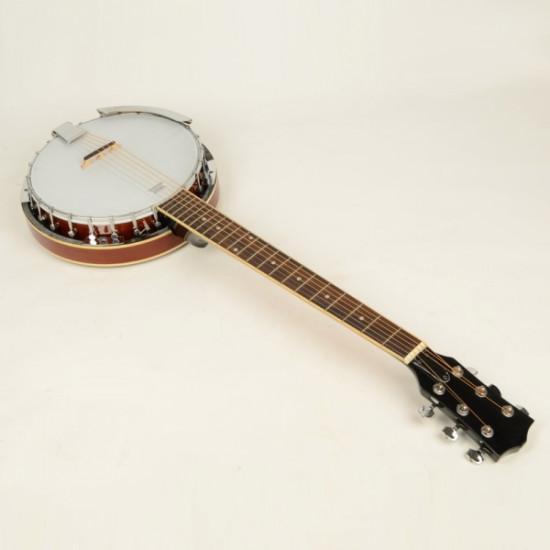 6-string Banjo Exquisite Professional Sapelli Notopleura Wood Alloy 2021