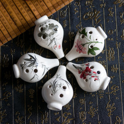 6 Hole Alto C Tone Ocarina With Chinese Hand-painted Crack Pattern