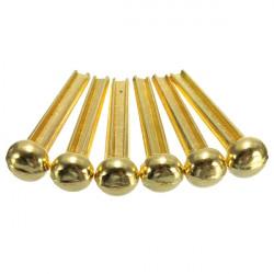 6pcs Brass Bridge Pins for Acoustic Guitar Golden Accessories
