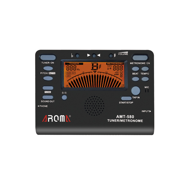 AROMA AMT-580 3 In 1 Metronome Tone Generato Tuner Musical Instruments