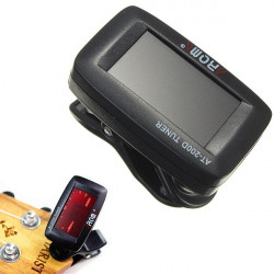 AROMA AT-200D Chromatic LCD Screen Tuner for Ukulele Music Guitar Bass