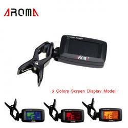 AROMA AT- 200D Tuner Clip Chromatic Guitar Bass Ukulele Violin Tuner