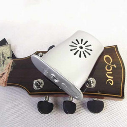 Acoustic Guitar Humidifier with Humidity Temperature Sensor Silver