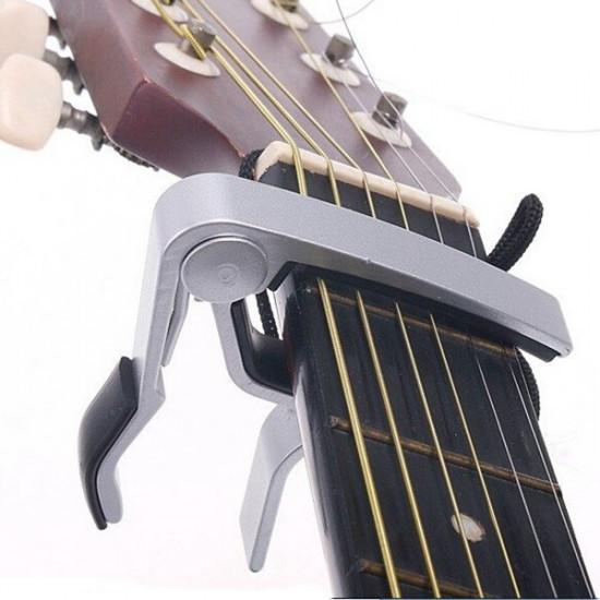 Aluminium Alloy Release Spring Trigger Capo Electric Acoustic Guitars 2021