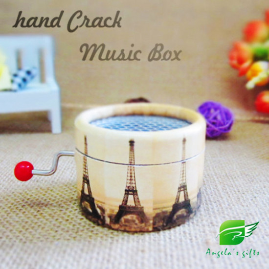 Angela's Gifts Hand Crank Music Box Souvenirs Gifts Paper Antique 2021