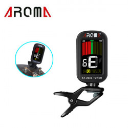 Aroma AT- 203B Guitar Tuner Color LCD Screen 360 Degree Rotatable