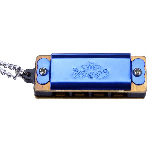 BEE Mini Fashion 4 Holes 8 Sounds Children's Necklace Harmonica Musical Instruments