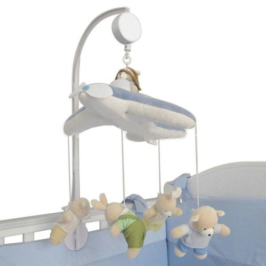 Baby Crib Mobile Bed Bell Toy Holder Arm Bracket and Wind-up Music Box 2021