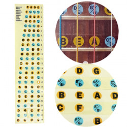Bass Guitar Fretboard Note Labels Fret Stickers