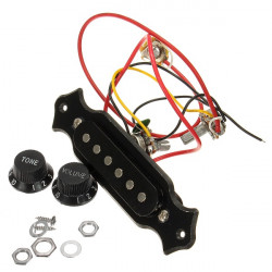 Black Humbucker Double Rail Electric Guitar Pickup Parts