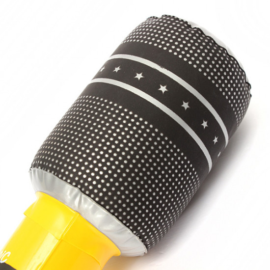 Blow up Inflatable Plastic Microphone 24CM Party Favor Kids Toy Gift 2021