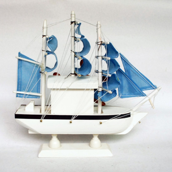 DIY Wooden Music Box Sailboat with Blue Sail Music Box 2021